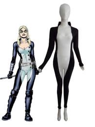 Marvel Comics Mockingbird Spandex Superhero Costume Halloween Party Cosplay Lycra Spandex Zentai Suit