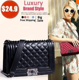 Wholesale Brand Fashion Woman Bag Promotional Ladies luxury PU Leather Handbag Chain Shoulder Bag Plaid Women Crossbody Bag