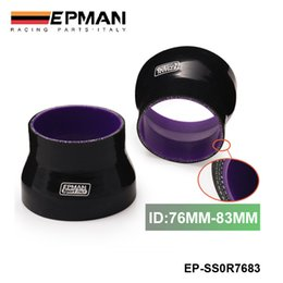 Wholesale Epman quot quot mm mm PLY STRAIGHT BLACK SILICONE HOSE TURBO INTAKE INTERCOOLER REDUCER COUPLER EP SS0R7683