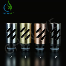 Wholesale New innovation Aluminum stainless steel drip tips with airflow control fit for EGO Atomizer Mouthpieces for CE4 Mini Protank E Cig Tanks