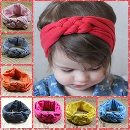Wholesale 2015 Baby Girls Hair Braided With Children Safely Cross Knot Hair Accessories Headband Elastic Cotton In China Online Cheap Sale