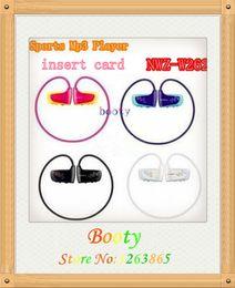 Wholesale nwz w262 walkman sports mp3 earphone w262 wireless earphone surpport GB to GB TF Micro SD Card FM Radio
