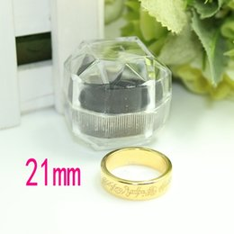 Wholesale-Free shipping gold color 21mm magnet ring magnetic ring magic trick magic prop with crystal box