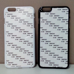 Wholesale For iPhone Plus inch DIY Sublimation Blank Hard Plastic PC Case with Metal Aluminium Sheet Black White Clear F0004