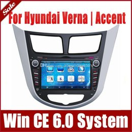 Wholesale 7 quot Din Car DVD Player for Hyundai Verna Accent Solaris with GPS Navigation Radio TV BT USB SD AUX G Auto Multimedia