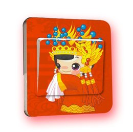 Wholesale 100pcs Manufacturers supply Wedding Series switch paste PVC wall stickers removable transparent film