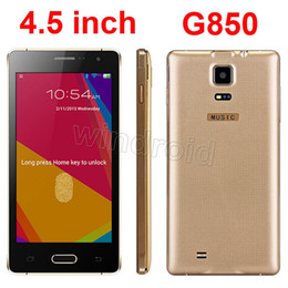 Wholesale Alpha G850 Smartphone Inch Android SP6825 Dual Core MB GB Dual SIM IPS MP Bluetooth GSM unlocked gesture