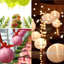 wholesale 8 inch 11Multi Optional Colors Wedding Paper Lanterns Celebration Decoration Light Up Centerpieces