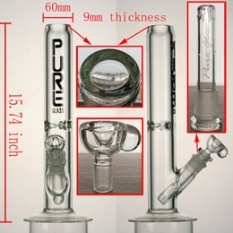 Wholesale 9mm thickness glass bong inch pure glass pipe have mm mm downstem and mm bowl high quality