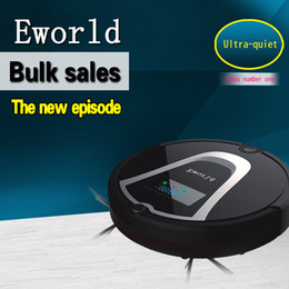 Wholesale Eworld robotic automatic vacuum cleaner with Auto recharging Remote controller and Noise Level Less DB