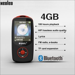 Wholesale XEOLEO bluetooth GB mp3 player with recording FM radio e book function Hours playing time RUIZU HIFI lossless mp3 Music Player X06