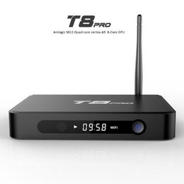 T8 Pro Quad Core Android 4.4 TV BOX S812 quad core smart media player support 2.4 5Ghz wifi Bluetooth 2GB 8GB android tv box