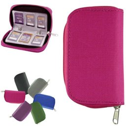 Wholesale New Potable Memory Card Holder Carrying Case Bag for SDHC and SD Cards Best Deal
