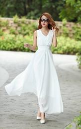 2016 new summer dresses cultivate one's morality show thin beach dress chiffon skirt Bohemian dress v-neck Beach dress dress Bohemian dre