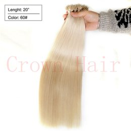 Wholesale nano ring human hair extensions Remy Micro Nano Rings Hair Micro Bead Nano Ring Hair Platinum Blonde g s