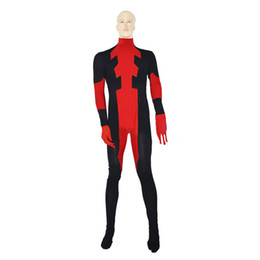 Cheaper Cosplay Costumes Red Halloween Cosplay Super Hero Deadpool Suit Different Sizes Elastic Lycar Fabric Classic Design DC004