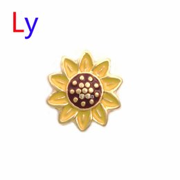 Wholesale new fashion lovely Living Memory Locket Floating Charm Sunflower Flower Fall Autumn best gifts MFC373