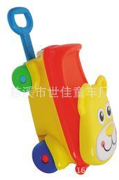 Wholesale cm Baby Four Wheel Bike Drift Trike Swing Car Draw bar Box Mobile Case For Childrens a092