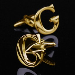 Most Fashion Christmas Gifts Gold Last Name Cufflink G Letter