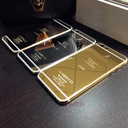 Wholesale 24K Dubai Gold Plating back Housing Cover Skin for iPhone quot kt ct Limited Edition Golden Back Cover Housing Battery Back For iphone