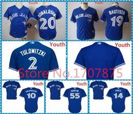Wholesale Toronto Blue Jays Josh Donaldson Youth Jersey Russell Martin Child David Price Kids Jersey Blue red white Edwin Encarnacion Kids Jersey