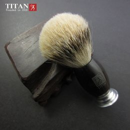 100% Black Ebony Handle Titan Men Shaving Brush Silvertip Badger Brushes Pincel Badger Hair Knot Free Shipping