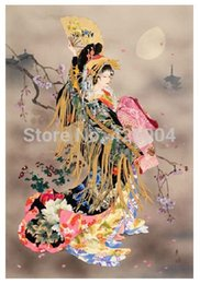 Wholesale DIY Unfinished Diamond Painting Sets Rhinestone Pasted Decorative Painting Craft Kits Japanese Maidservant CVNG609