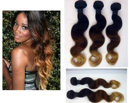 Black brown blonde #1b #4 #27 Ombre Peruvian hair weave body wave ombre hair extensions virgin Peruvian OMBRE HAIR ombre virgin hair weft
