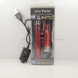 H2 Vaporizer Atomizer EVOD Twist Blister Kit Adjustable Battery 650mah 900mah 1100mah EVOD Twist H2 Vaporizer Starter Kit Colorful KZ048