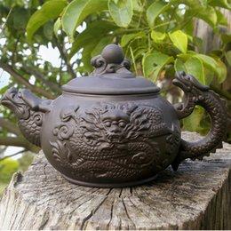 Wholesale New style dragon pot Authentic Yi xing teapot Chinese purple clay pot kongfu tea set cc nice gift