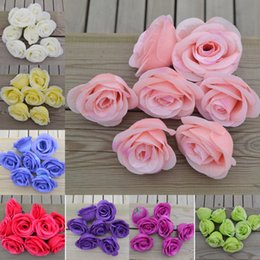 Wholesale Beautiful Lifelike Artificial Silk cm Rose Flower Heads Bridal DIY Accessories Plant Arrangement Wedding Home Party Decoration Colors