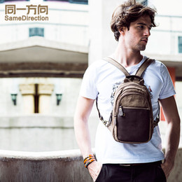 New Women Canvas Backpack School Bags For Boys Chest Pack High School Students Shoulder Bag Casual Travel Bag Men multifunctional bag