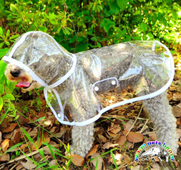 Transparent dog raincoats for small dogs trench coat size xs s m l chihuahua yorkies clothing pet supplies CA716