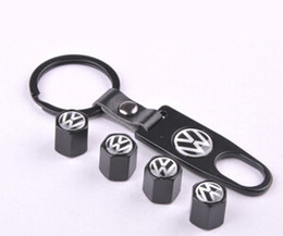 Wholesale Volkswagen Car Keychain Keyrings Key Holder With Volkswagen Emblems Auto Parts accessories Auto Tire Valve CapS For VW Car
