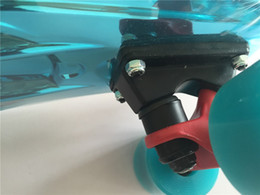 Wholesale Complete Mini Skateboard Shine Sky Blue Plastic Small Cruiser Board Nologo quot Street Road Skateboard Deck With Blue Wheels