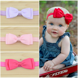 "4""Boutique Bows Hair Accessories Baby Girl Headbands Double Ribbon Bowknot Elastic Hair Bands Fashion Babies Headwear Childrens Headdress"