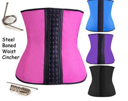 S-3XL Women Latex Rubber Waist Trainers corset Waist Training Belt Kim Waist Training Belt Underbust Corset Body Shaper Shapewear