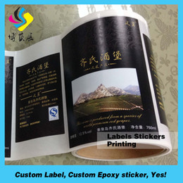 Wholesale Factory price with high quality for custom printing glass bottle label for beer