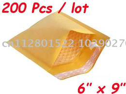 "Wholesale-200 Pcs Kraft Bubble Mailers Padded Envelopes Bags 6""X9"""