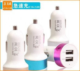 Wholesale Dual USB Charger matt Auto Car Chargers Adapter USB Port Sync Charge For iPhone plus Samsung Galaxy HTC Tablet iPad air