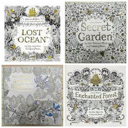 Wholesale New Pretty Baby x25cm Animal Kingdom Enchanted Forest Lost Ocean secret garden inky coloring book for kids adult Graffiti Painting Drawing