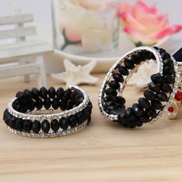 Wholesale Fashion Ladies Infinity Bracelets Charms Jewelry Wedding Bride Crystal Rhinestone Stretch Tennis Bracelets Bangles GUI