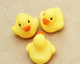 Cheap wholesale Baby Bath Water Toy toys Sounds Yellow Rubber Ducks Kids Bathe Children Swiming Beach Gifts