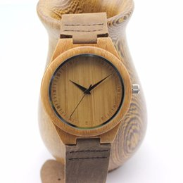Wholesale Retro Classic Bamboo Wooden Watch japanese miyota movement wristwatches genuine leather bamboo wood watches for men women gift box