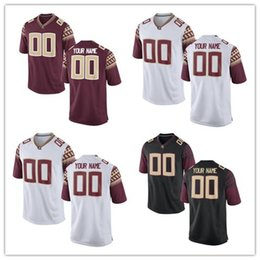 Wholesale Factory Outlet Custom Florida State Seminoles College Football Jersey Personalized Black Double Stitched Top Quality Jerseys Any Name Num