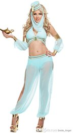 Wholesale Beautiful Aladdin Goddess Costume Sexy Lingerie Club Masked Arab Woman Stage Performance Gauze Suits Cosplay Classic Halloween