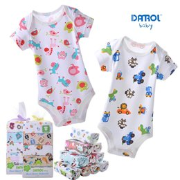 Cartoon pure cotton short rompers for hot summer