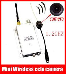 Promotion caméra pour la sécurité cctv En gros sans Fil Minuscule Sténopé Mini CCTV Couleur de Sécurité de la Caméra Cachée caméra espion Gratuit DHL