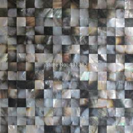 Wholesale 2016 style HYRX natural color Black lip shell mosaic tiles indoor mosaics tiles Hot sale kitchen backsplash home improvement