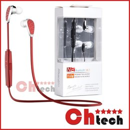 Wholesale Bluedio N2 Bluetooth Headset V4 Earphone HIFI Wireless Sports Stereo Headphone Sweat Proof Muti point Connection Voice Command for iphone